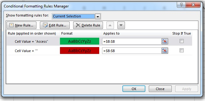 Create the rule for any particular cell entry. As far as I know there is no limit to the number of rules!