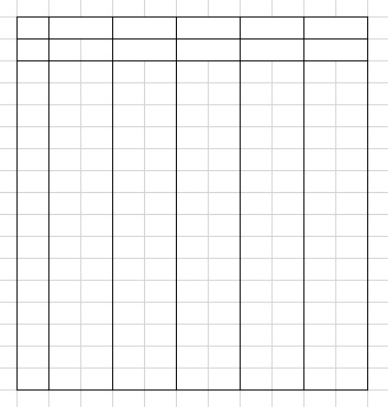 Programmatically drawing the lines in a delphi drawgrid and merge cells