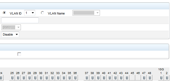 Default VLAN Membership
