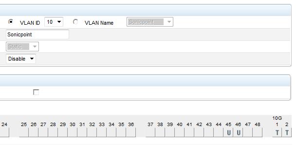 Sonicpoint provisioning VLAN