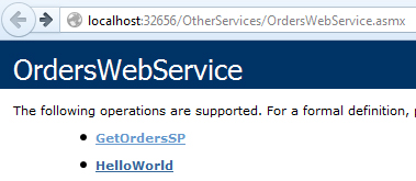 The methods in the OrdersWebService