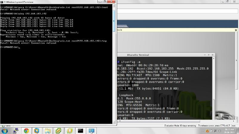 ping works fine of linux VM