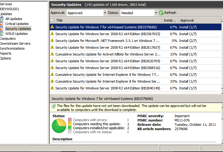SOLUTION] Off Line WSUS-Files For Updates Not Downloaded but