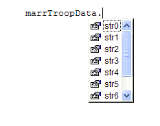 Intellisense with marrTroopData