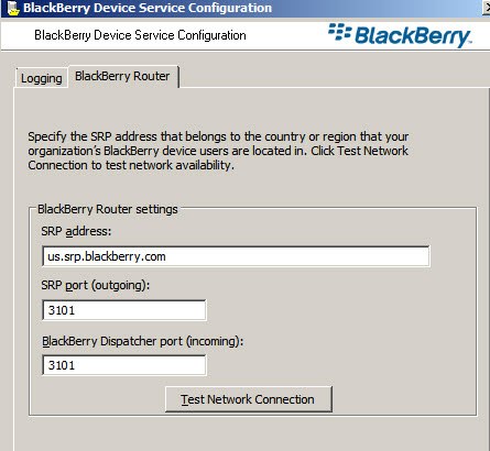 Router Service Settings