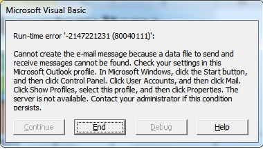 Mail VBA Error
