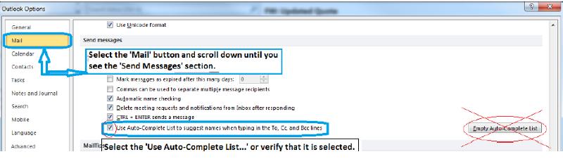 Verify Use Auto-Complete Option Screenshot