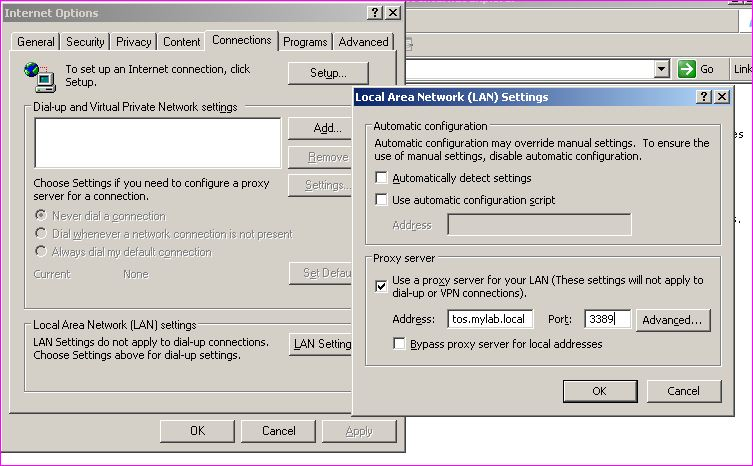 How to configure network to use squid proxy server for web