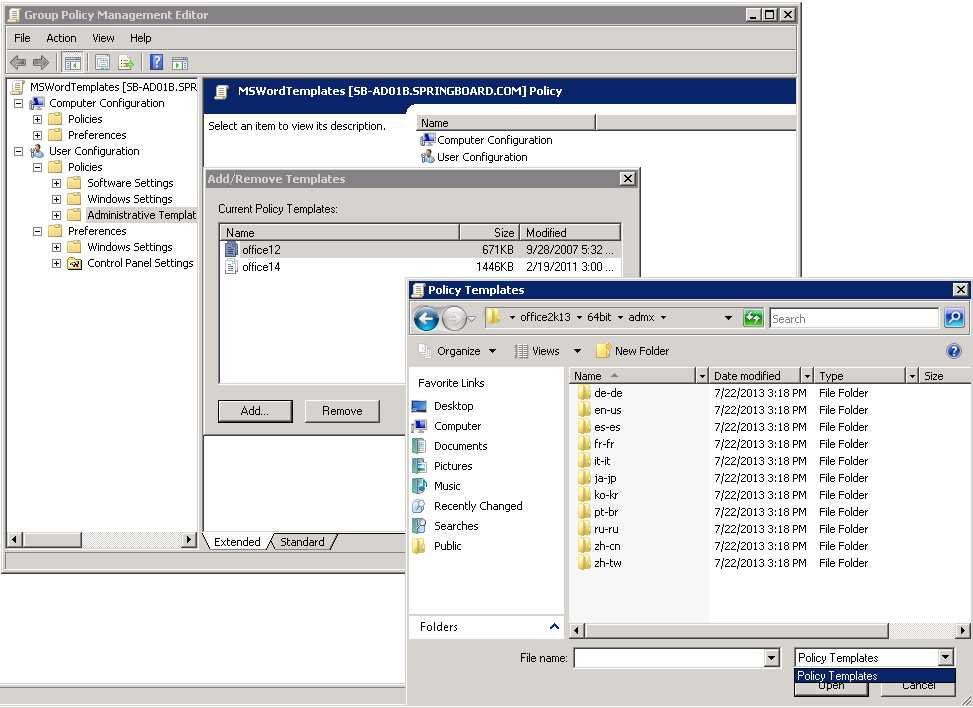 Solution gpo policy for office 2013 workgroup templates path office gpo 005g toneelgroepblik Images