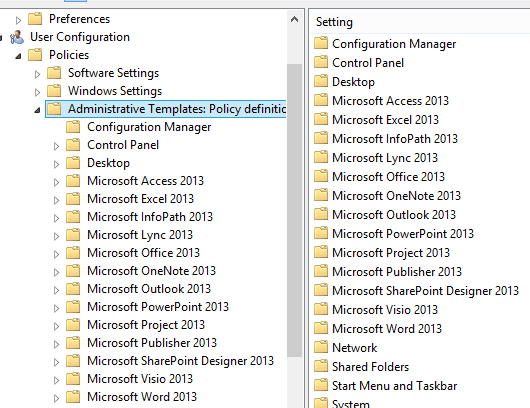 Solution gpo policy for office 2013 workgroup templates path office 2013 gp toneelgroepblik Images