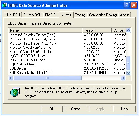 Connect to an odbc data source (sql server import and export.