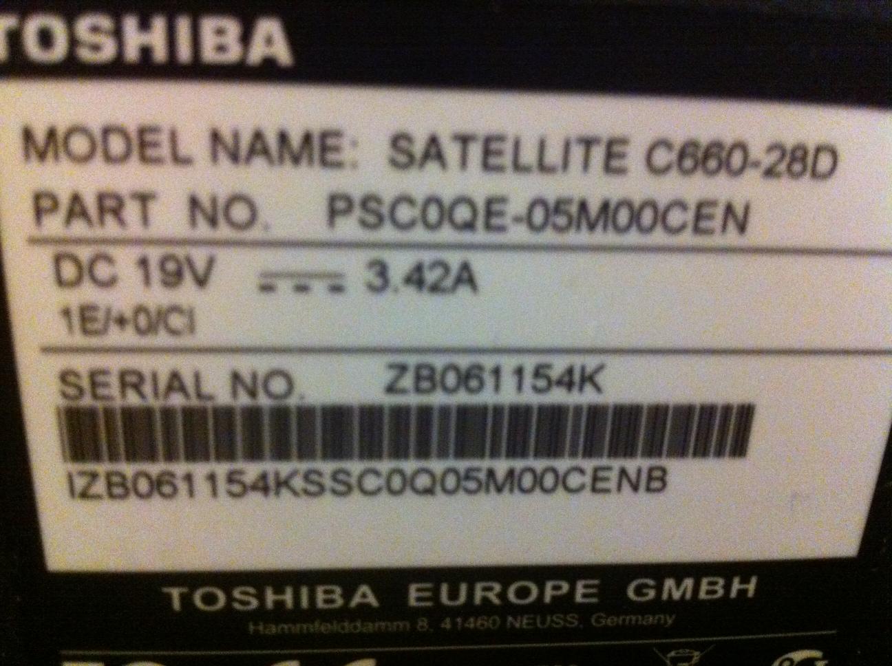 Toshiba satellite c660 drivers for windows 7 32 bit