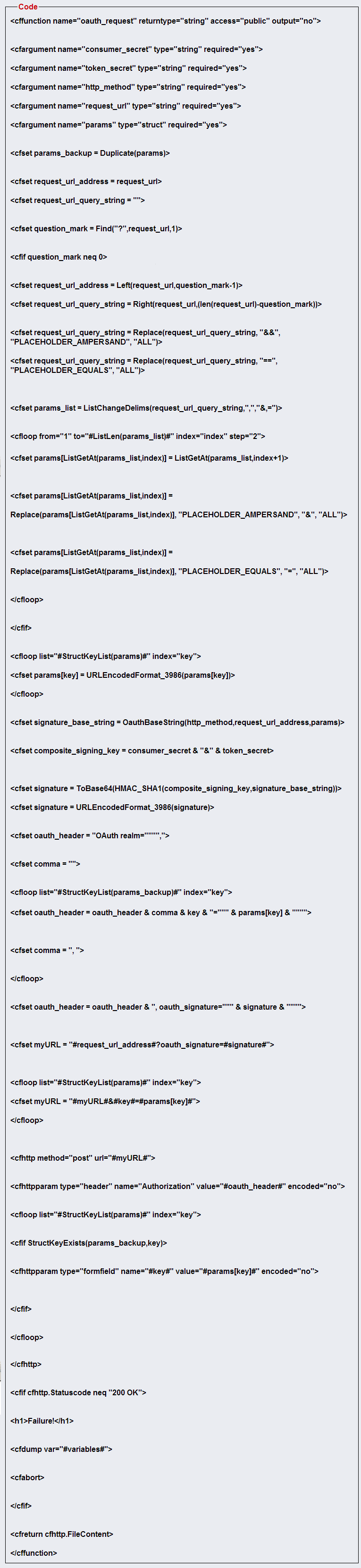 OAuth Authorization Function