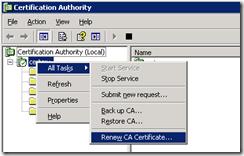 Windows 2003 CA Renew