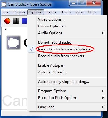 Record audio