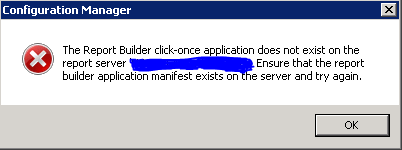 SCCM Report Builder Error