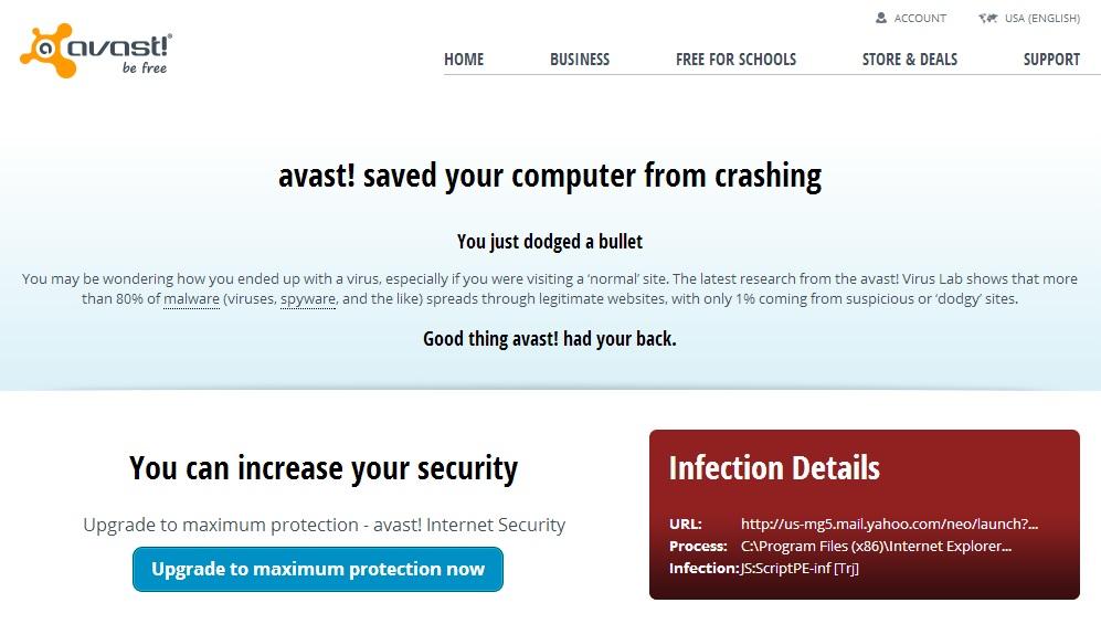avast blocked gmail