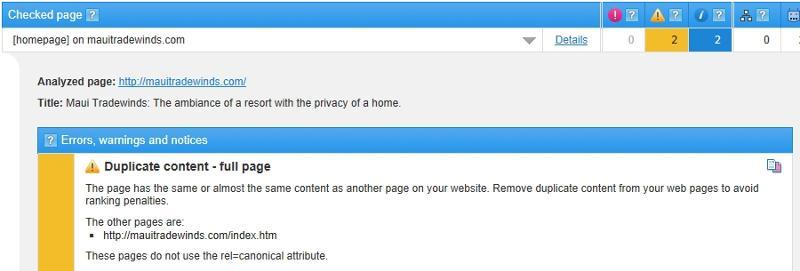 Screen shot of supposed error