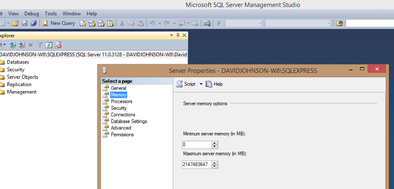 What are your SQL Server Memory Settings