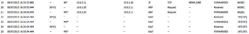 Packet Monitor Screen Shot 1