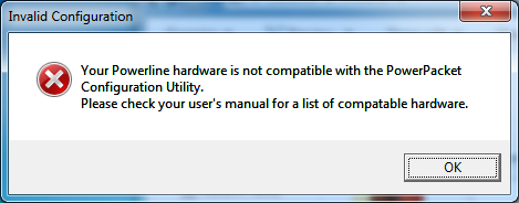 Invalid Configuration