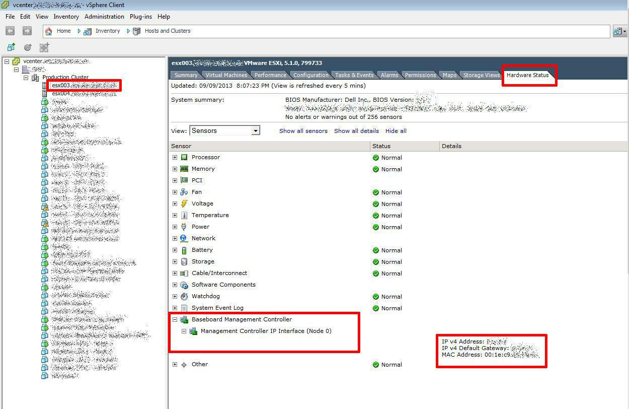 How to tell if an ESXi host has an iDRAC