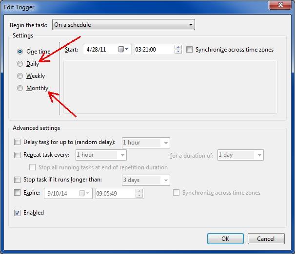 Task Scheduler Trigger