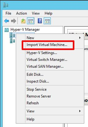 Import Virtual Machine...