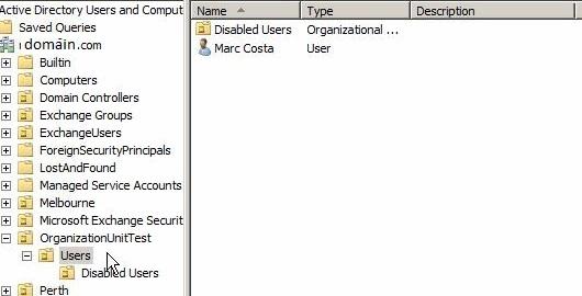 organization units order