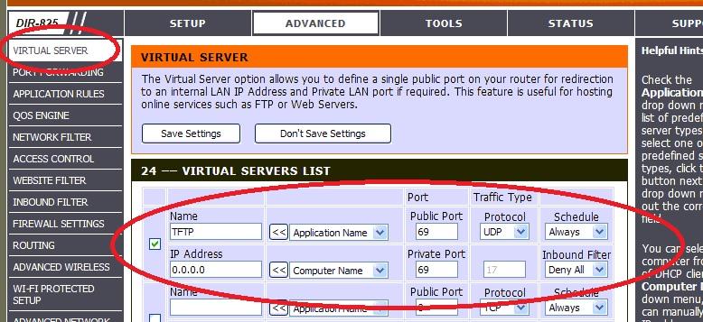 Virtual Server Restriction