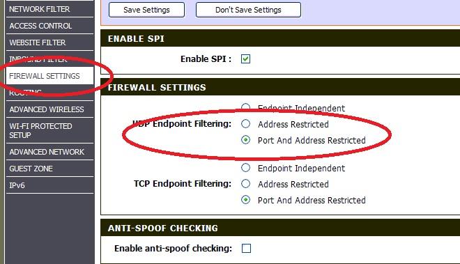 Port restriction for UDP 69