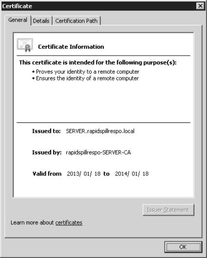 Slef Signed Server Cert