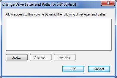 Add drive letter