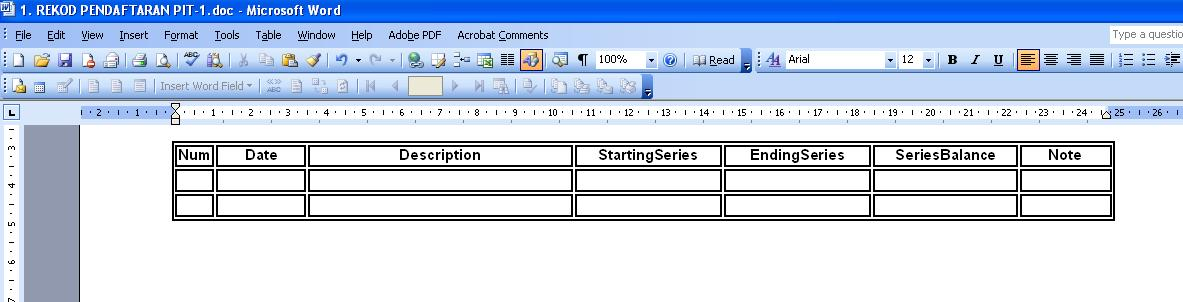 VBA copy Access recordset to existing Word table