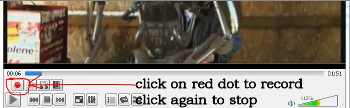 3- play and click on the red dot start and stop capture
