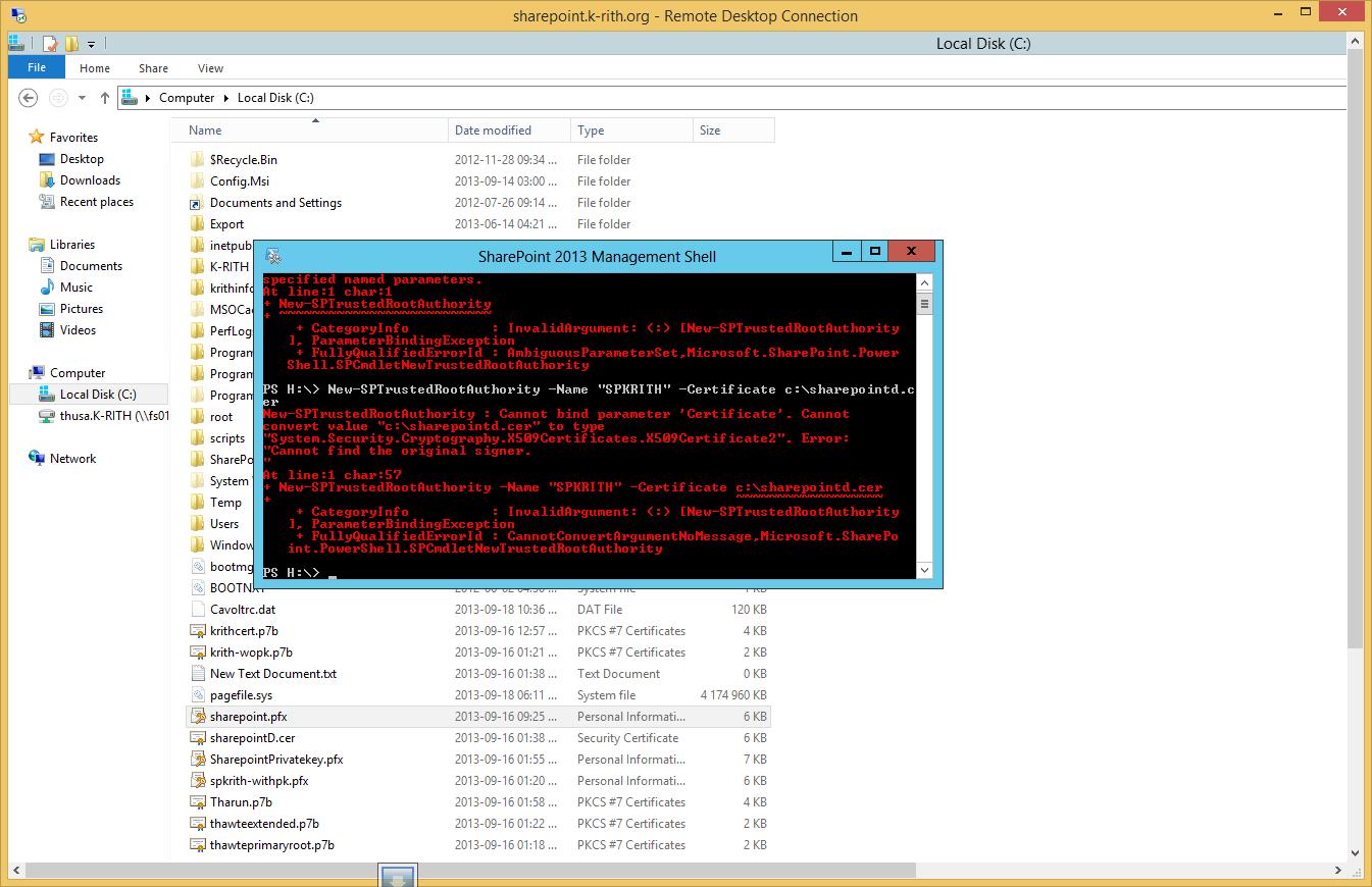 Adding a SSL cert to Sharepoint 2013