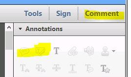Screenshot of Adobe Reader setting