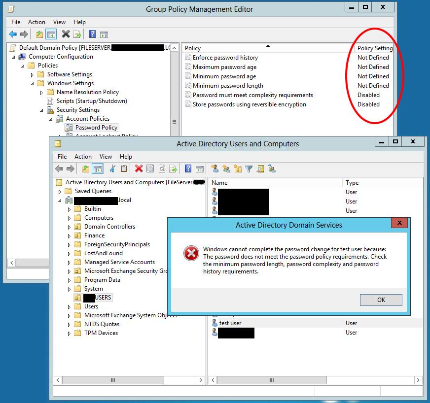 microsoft password requirements