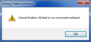Cancel button or no comment