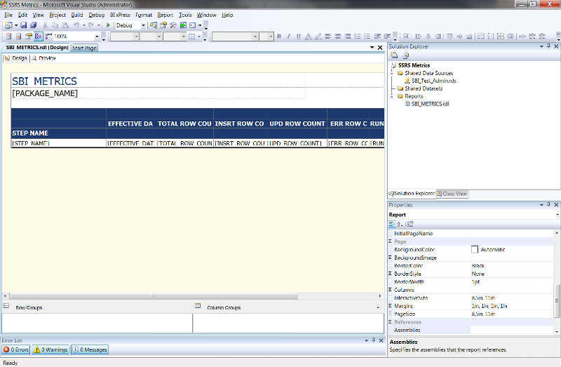 SSRS editor