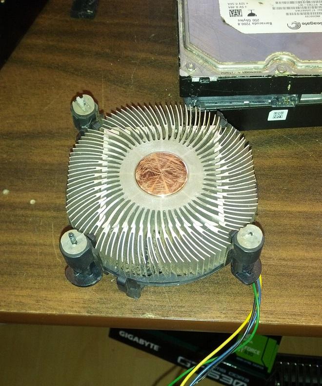 Scratches on copper part of CPU Heat Sink