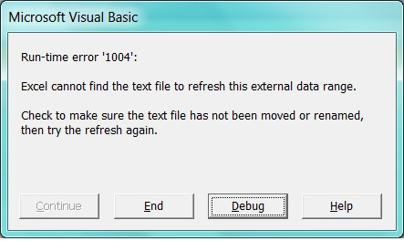 This is the error message