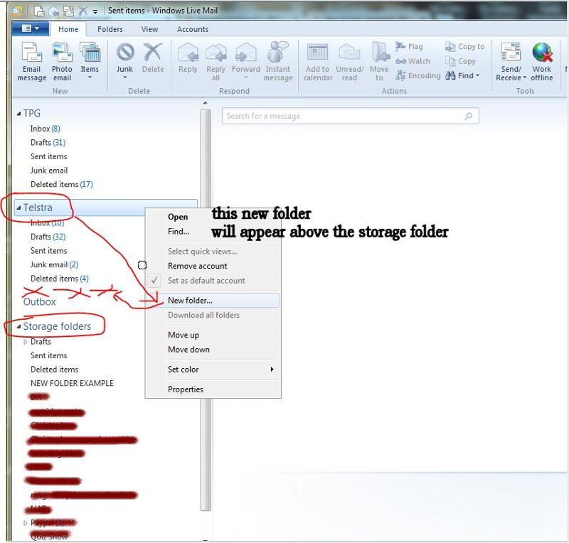 creating new folders under ISP