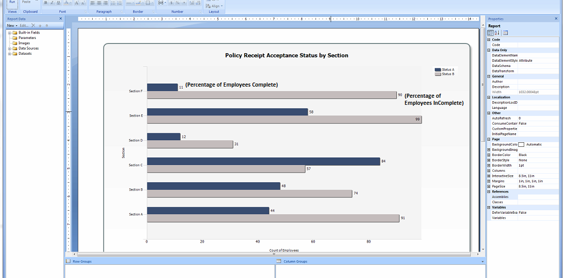 SOLUTION] SSRS Bar chart displaying percentage