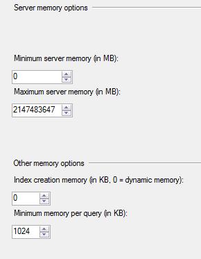 SQL Server Memeory Configuration