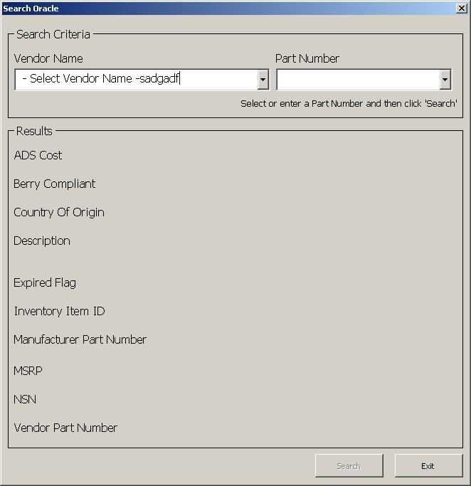 Search Form Sample Scenario