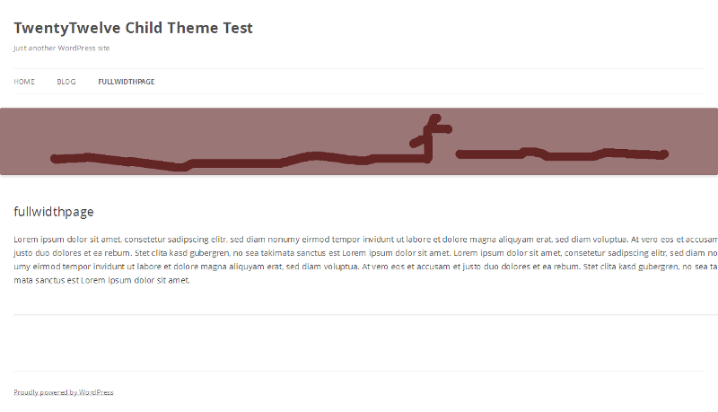 TwentyTwelve child theme - Screenshot