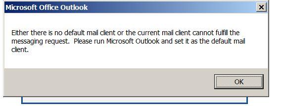 error about default not set
