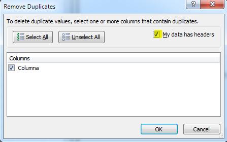 remove duplicates step 2