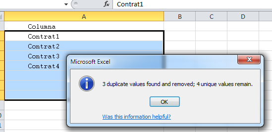 remove duplicates step 3